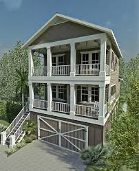 beach house plans narrow lot coastal house plans for narrow lots escortsea