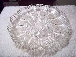 glass egg plate depression glass deviled egg relish tray by indiana glass