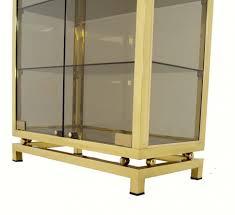 Contemporary Curio Cabinets Curio Cabinet Modern Solid Brass Glass Curio Cabinet Display