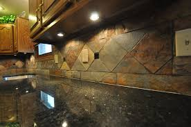 Granite Tile For Kitchen Countertops Amusing Multi Color Natural Slate Backsplash With Drop Ceiling