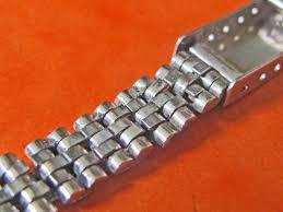 stainless steel bracelet links images Authentic folded link ladies womens rolex stainless steel jubilee jpg