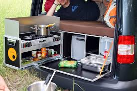 Portable Camping Sink Kitchen by 5 Ingenious European Camper In A Box Designs