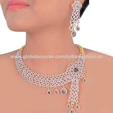 cubic zirconia necklace sets images India indian cubic zirconia diamond jewelry set on global sources jpg