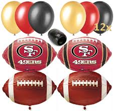 san francisco 49ers nfl football balloon decorating party pack