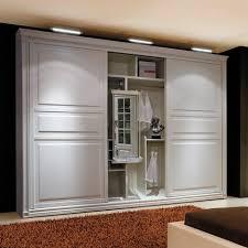 Wardrobe Closet With Sliding Doors Wall Mounted Simple Sliding Door Mdf Clothes Wardrobe Closet