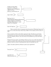 sample resignation letter 1