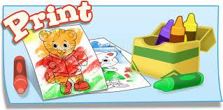 coloring daniel tiger u0027s neighborhood pbs kids