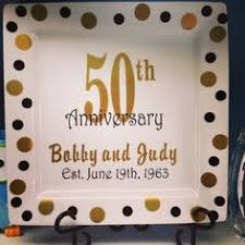 personalized anniversary plates 50th wedding anniversary yellow butter cake with all buttercream