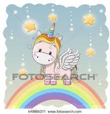 imagenes de unicornios en caricatura clipart lindo caricatura unicornio en el arco iris k49865371