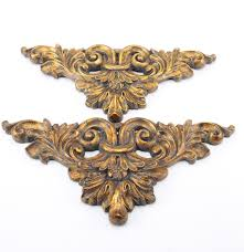 baroque style gold tone wall ornaments ebth