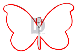 how to draw a simple butterfly by drawing guide by