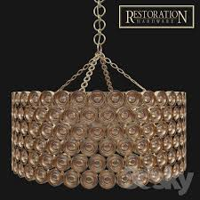 Chandelier Restoration 3d Models Ceiling Light Delany Chandelier Restoration Hardware