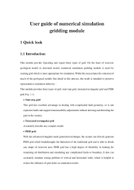 user guide of numerical simulation gridding v2 2 0