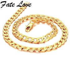 new collection gold necklace images Buy fate love new collection men classial style jpg