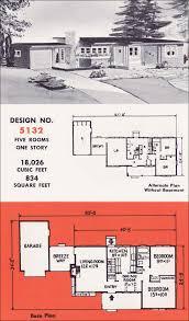 Mid Century Modern Ranch House Plans Design No 5132 By Weyerhauser Mid Century Modern Home Plans