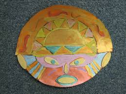 inca sun god mask art pinterest native american projects