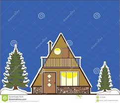 A Frame House by A Frame House Stock Vector Image 41546008