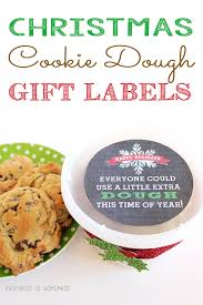 christmas cookie gifts printable cookie dough gift tag gifts