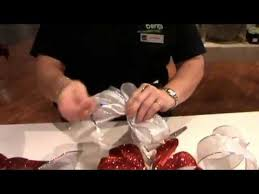 how to make a christmas bow with jeannine at bents garden u0026 home
