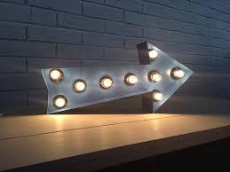 arrow of light decorations metal arrow light up wall decor industrial home decor sign
