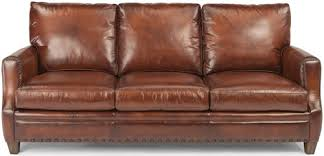 Flexsteel Leather Sofa Flexsteel Latitudes Maxfield Rustic Leather Sofa With Nailhead