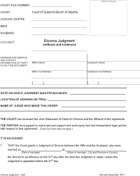 download alberta joint divorce judgment form for free tidyform