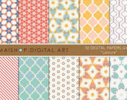moroccan wrapping paper moroccan digital paper summer energy blue yellow turquoise