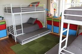All In One Loft Twin Bunk Bed Bunk Beds Plans by How To Fit 6 Kids In One Room On A Budget