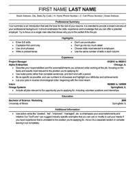 Template For A Good Resume Template For A Resume Berathen Com