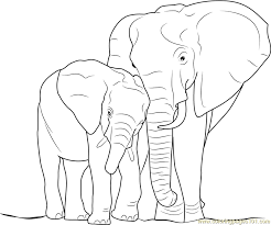 elephant baby coloring free elephant coloring pages
