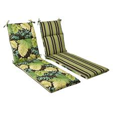 Chaise Lounge Cushions Cheap Amazon Com Pillow Perfect Indoor Outdoor Green Brown Tropical