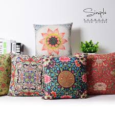 Sofa Decorative Pillows by Red Couch Pillows Indian Embroidered Throw Pillows For Couch