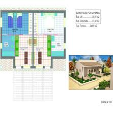 blueprints double villa calnegre village