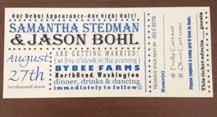 ticket wedding invitations custom concert ticket wedding invitation wedding