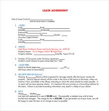 free lease agreement templates 8 download free documents in pdf