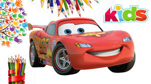 lightning mcqueen coloring page for kids cars lightning
