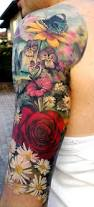 roses arm sleeve tattoo 18 best beautiful flower tattoo images on pinterest floral