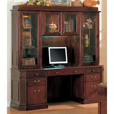 Cherry Desk With Hutch Youngtown Cherry Credenza Desk With Hutch Dcg Stores