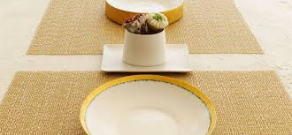 Table Place Mats Chilewich Table Placemats U0026 Runners Glassweave Gold