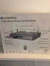 Kitchen Under Cabinet Radio Cd Player Audiovox Kcd3180 Kitchen Under Cabinet Mount Cd Player Clock Radio