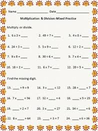 this valentine themed multiplication and division worksheet packet