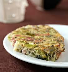 cuisiner le poireaux clafoutis aux poireaux et lardons sans lactose sans gluten les
