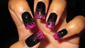 radiant orchid drag marble flames nail art tutorial youtube