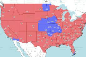 Oakland Map Oakland Raiders At Denver Broncos Tv Broadcast Map Cbs Mile