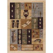 Nature Area Rugs Animal Print Rustic Lodge Area Rugs Rugs The Home Depot