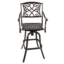 Swivel Outdoor Patio Chairs by Outdoor Cast Aluminum Swivel Bar Stool Patio Furniture Antique