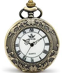 amazon com mifine antique roman pocket watch pendant bronze dial