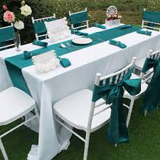 1pc satin table runner chair sashes napkins for wedding decoration