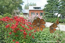 metal flower garden stakes august 2016 janet davis explores colour