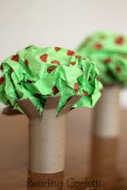 easy apple tree preschool craft reading confetti